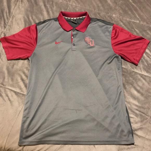 7f95eb16 Nike Shirts | Fsu Polo Gray Garnet Large | Poshmark